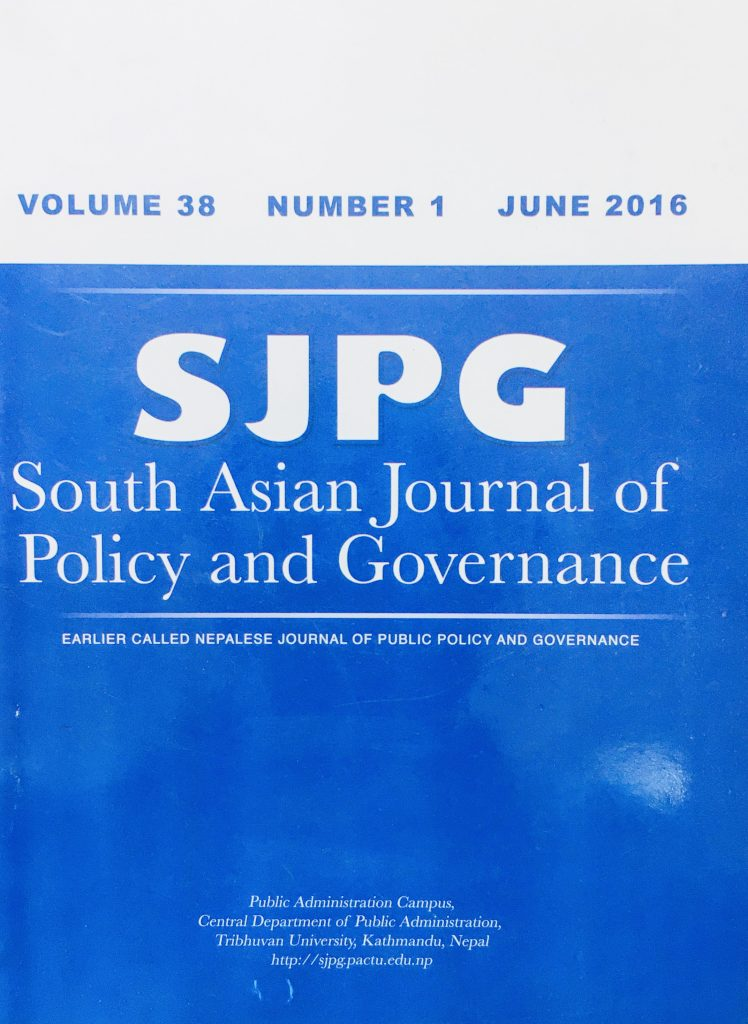 CDPA-publication-South Asian Journal of Policy and Governance SJPG