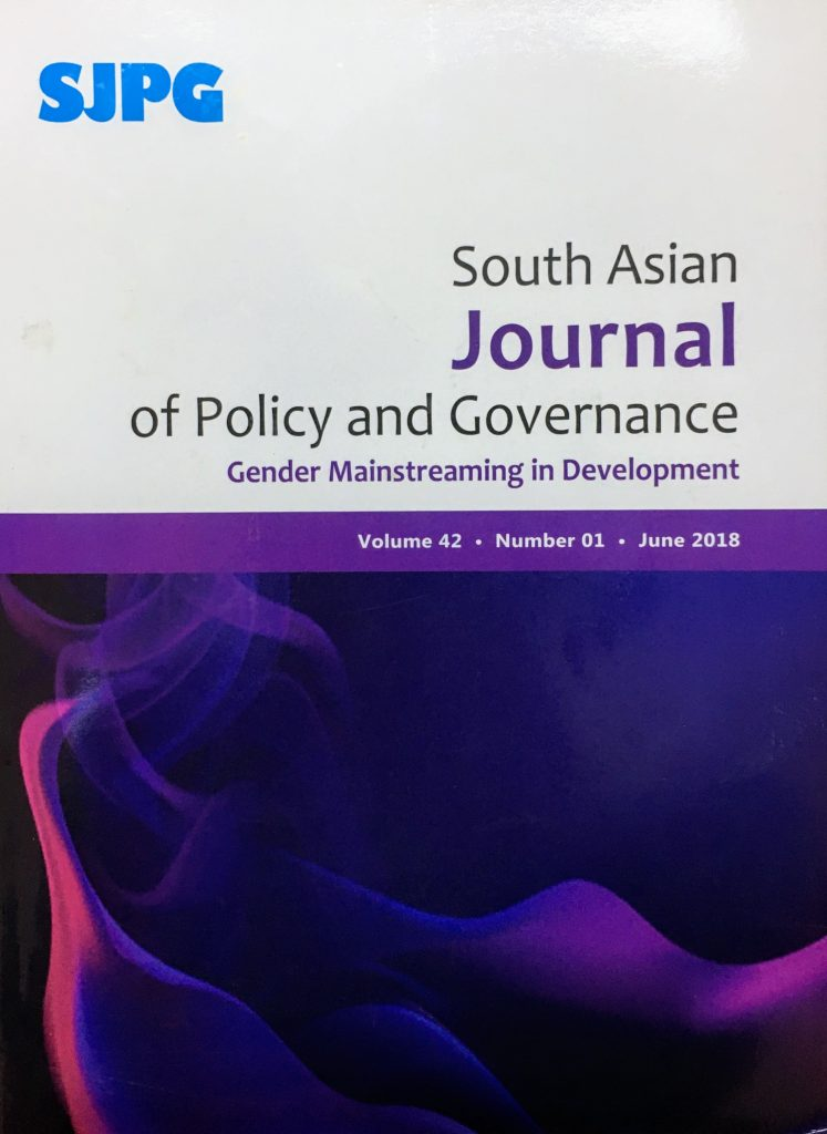 CDPA-publication-South Asian Journal of Policy and governance Speicial Issue