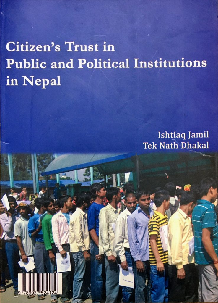 CDPA-publication-citizens trust in public and political institutions in Nepal Trust Survey